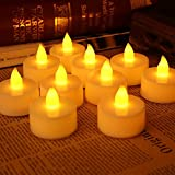 CHRONOS LED Tealight Candle - Battery Powered - Ultra Bright Yellow LED - For Diwali, Christmas, Home Decor, Wedding Decoration, Happy Birthday And Gift - Pack Of 10