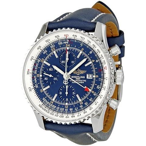 Breitling Hombre a2432212/C651navitimer mundo azul Cronógrafo