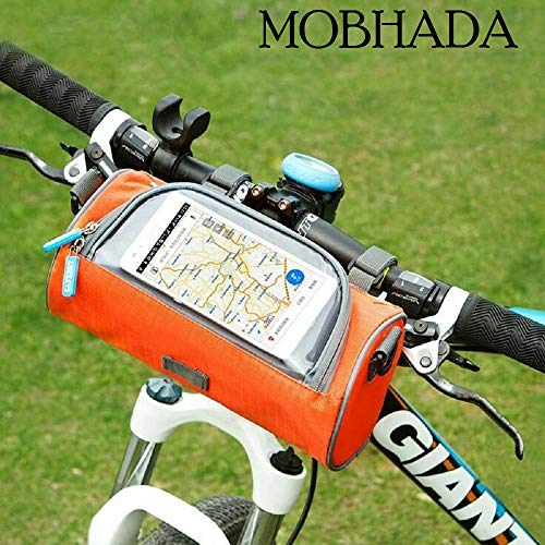 Mobhada Travel Bicycle Handlebar Bag for Road, Mountain Bikes and Motorcycles (Multi Color)