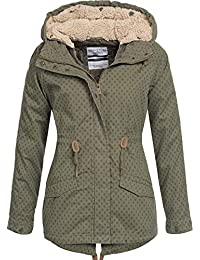 Urban Surface warme Damen Winter Jacke Teddyfell  Parka Winterjacke Bomberjacke