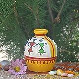 Kalaplanet Handpainted Wooden Warli Pot ...