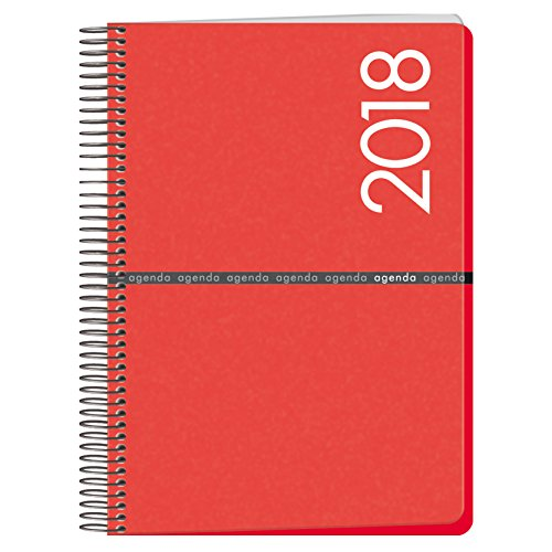 Dohe Metropoli - Agenda 2018, 15 x 21 cm, color rojo