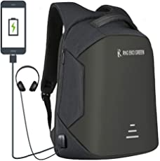 RNG EKO GREEN 30 Litre Anti Theft Backpack with USB Charging Port - Black (Waterproof, Cut Proof, Durable, Anti-Theft)