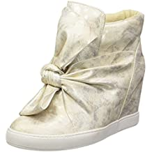 935cf41d3a1ef Angkorly - Scarpe Moda Sneaker Zeppa Donna Papillon Lucide Tacco Zeppa 9 CM