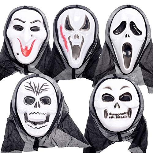 BUY-TO 5 Stück Halloween Maske Kostüm Party Requisiten Scary Horrible Masquerade Vampir