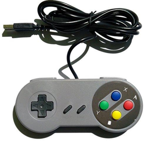 Retrozone SNES-simile USB Gamepad, compatibile Windows PC, Mac, Raspberry Pi Retropie