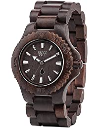 Wewood Holzuhr DATE Chocolate aus Indian Rosewood Unisex Uhr 100% NATURAL WOOD