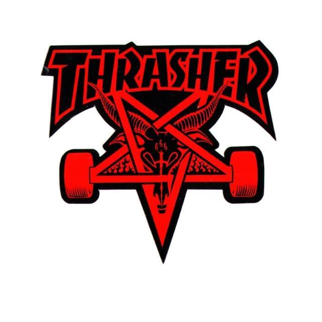 Autocollant Sticker Aufkleber Vinyle Décalcomanie Skateboard Thrasher Logo