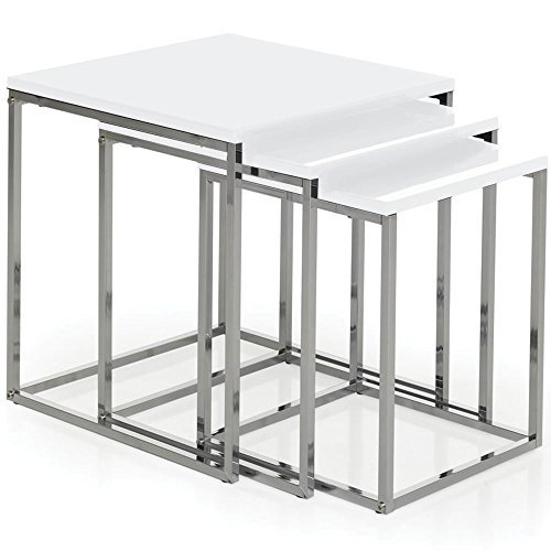 home-discount-aztec-high-gloss-square-nest-of-tables-in-white-color-white