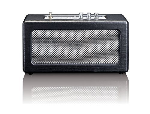 Lenco Bluetooth Speaker BT-300 Vintage, Holzgehäuse, Akku (2 x 10 Watt RMS, AUX-In, schwarz