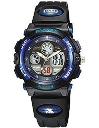 Reloj de los deportes al aire libre / reloj de los niños / reloj impermeable del muchacho / reloj electrónico , deep blue