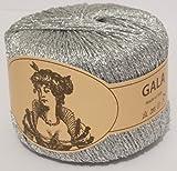 Filato in Lurex GALA 25 g argento/oro, finiture in Lurex argento