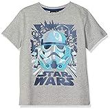 Disney Star Wars Jungen T-Shirt \Blue Stormtooper\, Grau (Grey Marl), 6-7 Jahre