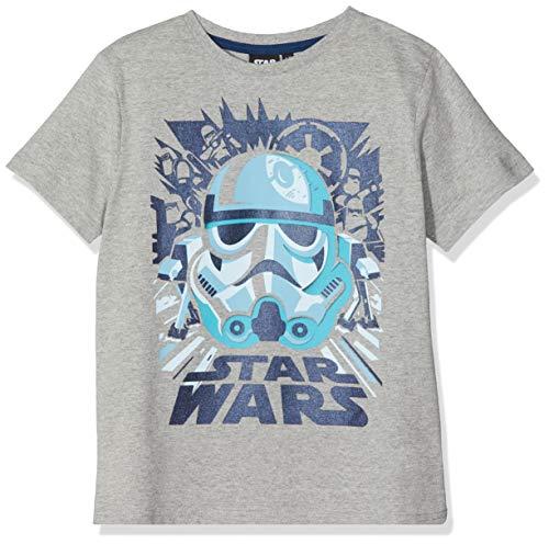 (Disney Star Wars Jungen T-Shirt \Blue Stormtooper\, Grau (Grey Marl), 9-10 Jahre)