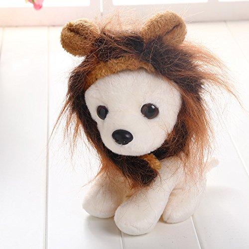 Kicode Netter Pelz-Haustier-Hut Kostüm Lion Mane Perücke Mit Ohr Halloween verkleiden sich Party (Lustige Haloween Kostüme)