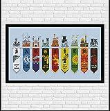 Game of Thrones Kreuzstich-Set aus ägyptischer Baumwolle, 210 x 95 Maschenprobe 48 x 30 cm