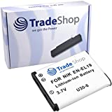 Trade-Shop Batterie Li-ion pour Appareil photo Nikon Coolpix L340 S2800 S2900 S32 S33 S3600 S5300 S6700 S6800 S6900 S7000 S2700 S3200 S4200 S5200 S6500 S3500 S6600