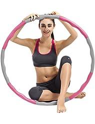Ubegood Hula Hoop, Hula Hoop desmontable Aro de fitness Hula Hoop con refuerzo de espuma (1,2kg)