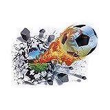 CHIC-CHIC 3D Wandaufkleber Wandtattoo Schlafzimmer Wandsticker Wand Aufkleber deko DIY Wandbilder (Fußball)