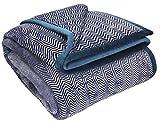 Betz Kuscheldecke Wohndecke XXL Monte-Carlo Größe 150x200 cm Farben Beige, Grau, Blau Farbe blau