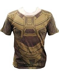T-shirt Halo Master Chief Cosplay Print coton olive