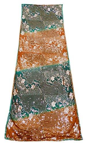Hochzeit Designer Designer Jahrgang Gestickte Dupatta Ethnischen Georgette Anzug Party Abnutzung Stahl Indischen Traditionellen Schal (Anzug Georgette)