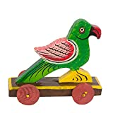 #6: Handmade Wooden Pull Along Toy for Little Walkers in Parrot Shape (Without String)