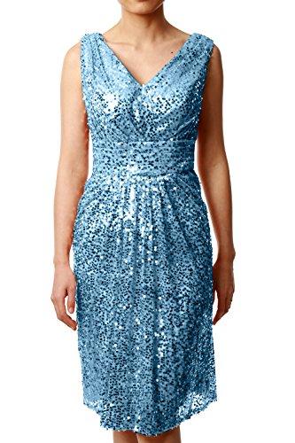 MACloth - Robe - Trapèze - Sans Manche - Femme Bleu - Bleu ciel