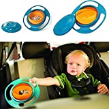 Sterling Bazaar Universal 360 Degrees Rotates Spill Proof No Mess Gyro Bowl For Baby Kids