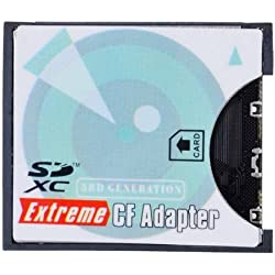 Appareil Photo SD SDHC SDXC à Haute Vitesse Extreme Compact Flash CF Type I Memory Card Adaptateur
