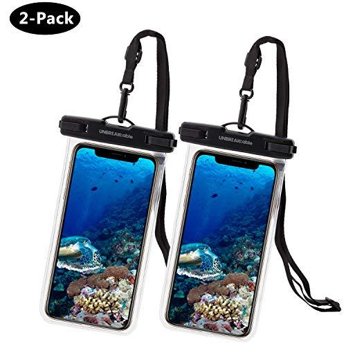 UNBREAKcable Universal wasserdichte Handyhülle - 6,6 Zoll IPX8 Handytasche Wasserdicht (Dry Bag) kompatibel für iPhone X, iPhone 8, iPhone 6, Huawei P30 Pro, Huawei P30 & mehr - 2er Packung