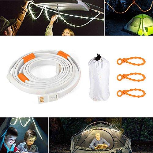 LED Seil Lichter für Camping Wandern Sicherheit und Notfall - Portable LED Streifen Licht für Outdoor Indoor Activity