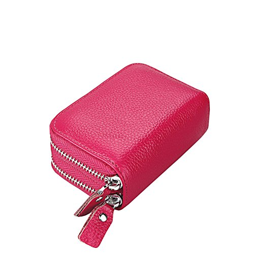 Donna Portafogli,RFID bloccando la protezione Blocco Portafoglio Porta carte di credito (Pink) Rosa