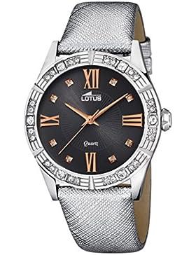 LOTUS 15981/6 VANESSE Uhr Damenuhr Lederarmband Edelstahl 5 bar Analog Silber