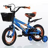 Guo shop- Bicicleta del doblez del niño 3-6-8 años Cochecito de bebé 12 pulgadas 14 pulgadas 16 pulgadas Bicicleta de 18 pulgadas bicicletas para niños ( Color : Azul , Tamaño : 18Inch )