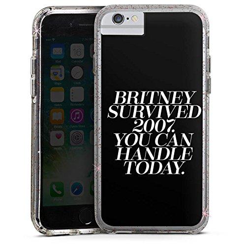 Apple iPhone 6 Bumper Hülle Bumper Case Glitzer Hülle Britney Spears Spruch Statements Bumper Case Glitzer rose gold