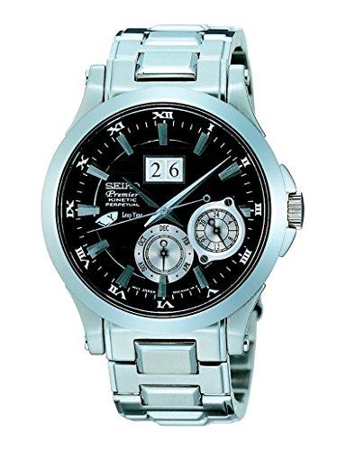 Seiko SNP003 - Reloj para Hombre, Color Blanco/Gris