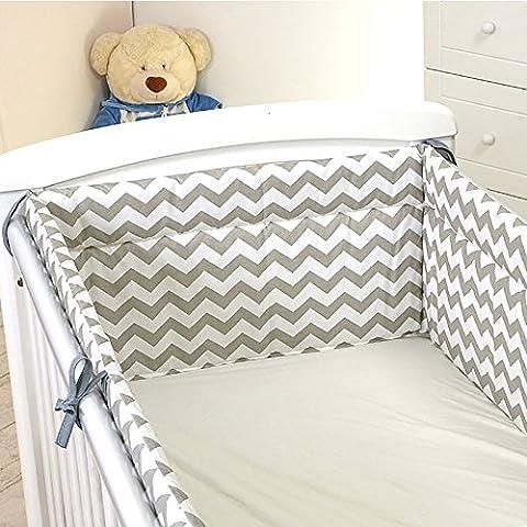 Nestchen mit Kopfschutz für 120x60 Bett 350x30cm
