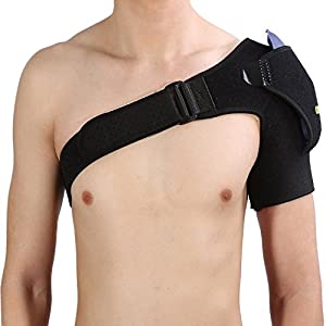 yosoo Schulter Unterstützung Klammer atmungsaktiv Verstellbare Kompression Schulter Riemenschutz Wrap Bandage Sport Gelenk verletzungsprävention Verstauchung Schmerzen und Sehnenscheidenentzündung, ko