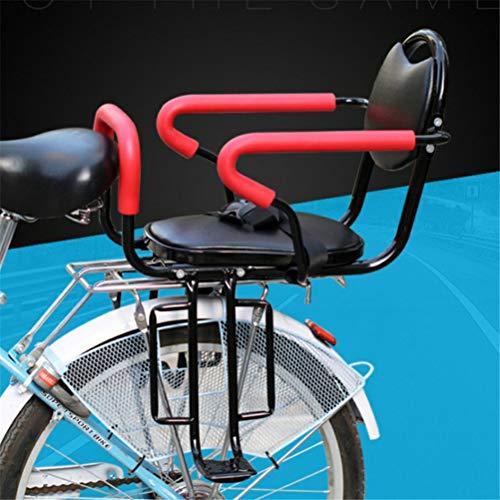 GFYWZ Fahrrad-Rückfahr-Sitze Kids Kissen Footrest Set, Child Bike Back Seat Armrest Seat Kissen, Detachable Fence Armrest und Pedal