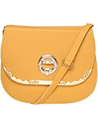 Yellow Color Stylish Sling Bag Shoulder Bag Purse For Girls Women