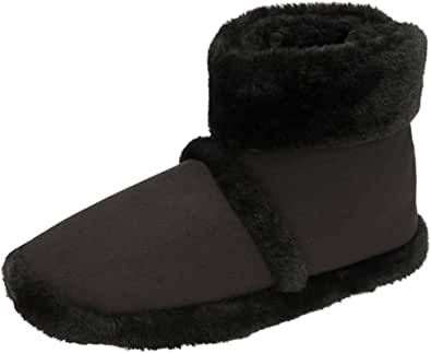 Dunlop Mens Famous Benjamin Faux Suede Bootee Slippers