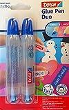 tesa Glue Pen Duo zum basteln mit Kleiner und großer Öffnung 2X 35g