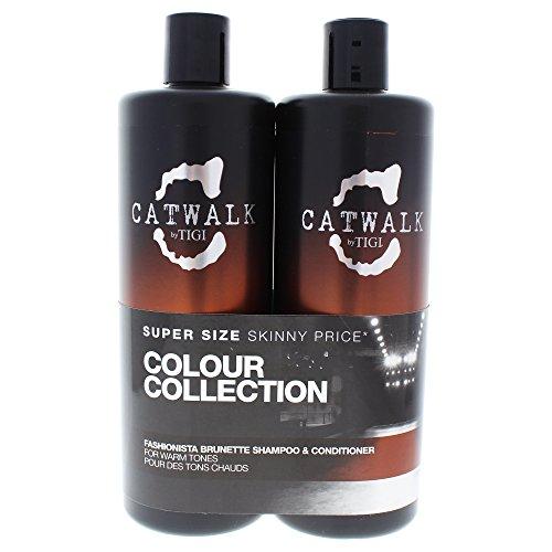 Tigi CATWALK Tween Duo Shampoo and Conditioner Fashionista Brunette, 1er Pack (1 x 1500 ml)