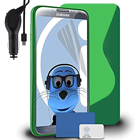 iTALKonline Samsung SCH-I605 Galaxy Note 2 Verde TPU S line