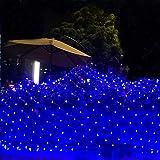 AIBAB della Rete del Fatato del Giardino, Utilizzato per La Decorazione del Tetto della Parete della Festa Nuziale Luci da Cortina Stellata con Terrazza sul Cortile, Blu 8×10m