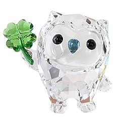 Idea Regalo - Swarovski Hoot-Ho Felicità Figura, Cristallo, Multicolore, 3.9x 4.1x 2.7cm