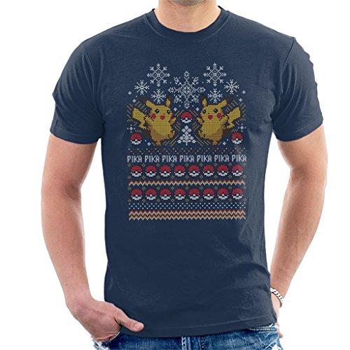 stmas Knit Pattern Men's T-Shirt (Design Pattern Ruby)