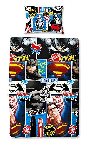 "Character World - Set Copripiumino singolo ""Batman V Superman Scontro"""