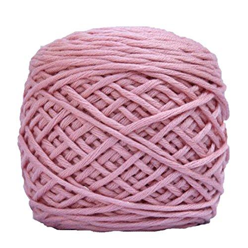sunnymi Super Soft Häkeln Woolen Stricken/Pullover Hüte Schals Decke Jacke/Pure Farbe/Geschenk/DIY Wolle Garn Strick Wolle/40% Baumwolle, Seidenprotein 60% (Rosa, 170g)